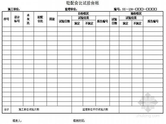 [辽宁]高速公路施工监理表格(227页)