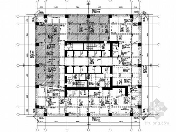 [云南]36层框架核心筒结构酒店、商场综合楼群结构施工图