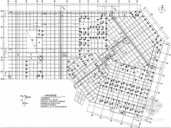 [山东]局部2层地上25层框剪国际酒店结构施工图(筏基、独基)