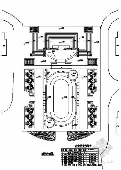 小区入口广场绿化种植设计平面图