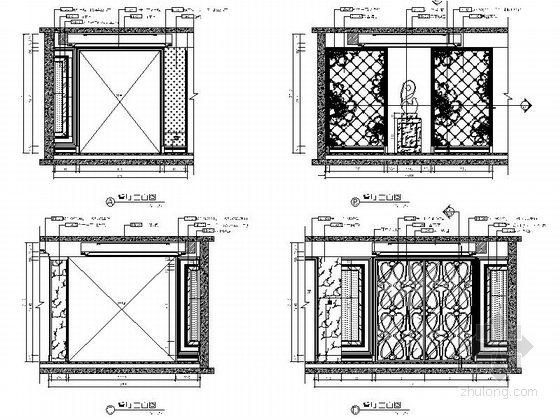 [山东]玫瑰人生高端品质样板间室内施工图(含实景照片)-玫瑰人生高端品质样板间室内施工图(含实景照片)立面图