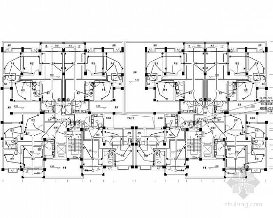 [四川]二类高层建筑电气强弱电电气施工图34张