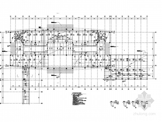 学术办公楼框架结构施工图(静力压桩)