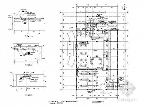 [河南]医院多层综合病房楼空调通风及防排烟系统设计施工图