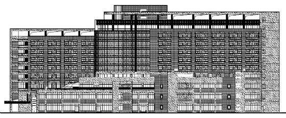 成都市某十层中西医结合医院建筑设计施工图