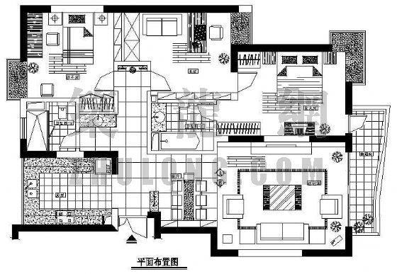 家装装修图纸(三室两厅两卫)