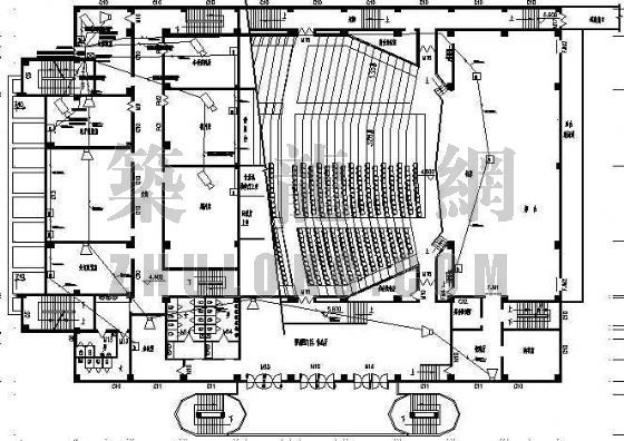 青少年宫建筑图纸资料下载-某青少年宫平面设计方案