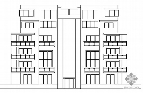 某六层联排别墅建筑施工图2