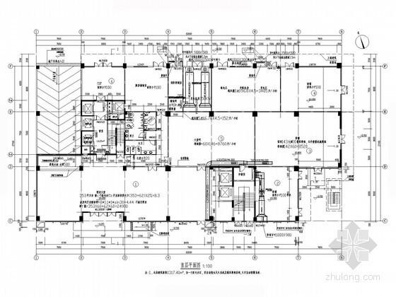 [广东]商业综合建筑空调及通风排烟系统设计施工图(含软件版水力计算)