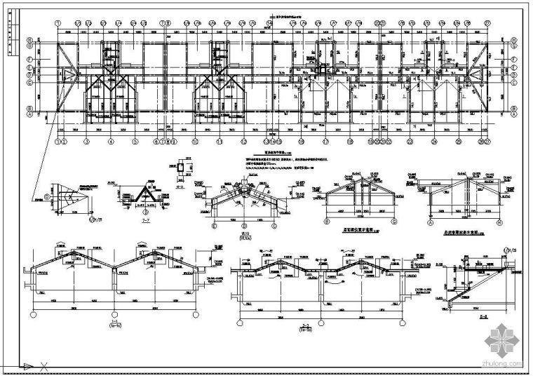 某房屋顶板(带老虎窗)结构节点构造详图
