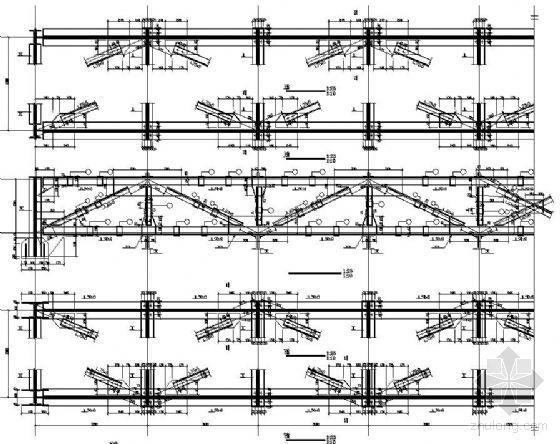 [分享]30米跨钢桁架设计图资料下载图纸箭头楼梯图片