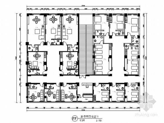 [广东]名山之中欧式风情茶楼室内装修施工图(含高清效果图)