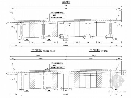 25m预应力砼简支T梁桥上部构造通用图(600余张 高价值)