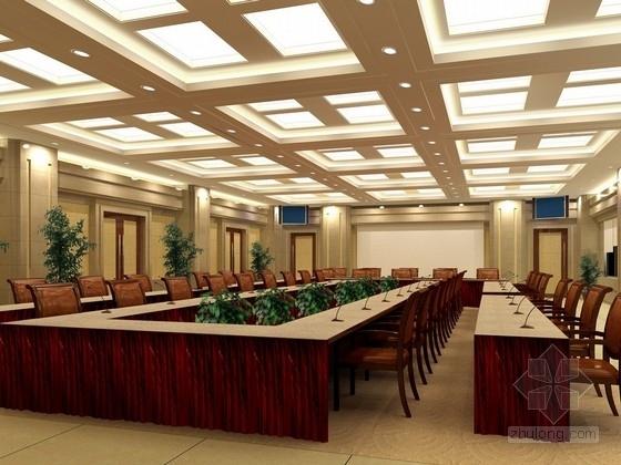 [山东]国际尖端大型合资企业家具产业园接待区设计方案