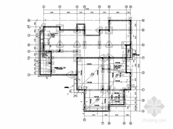 两层框架结构别墅结构加固改造施工图