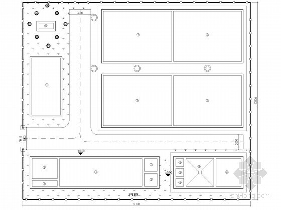 50-600t污水厂工艺流程及平面图集