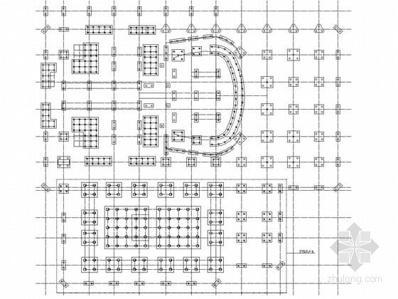 23层框筒结构传媒中心结构施工图(11层框剪结构裙房)
