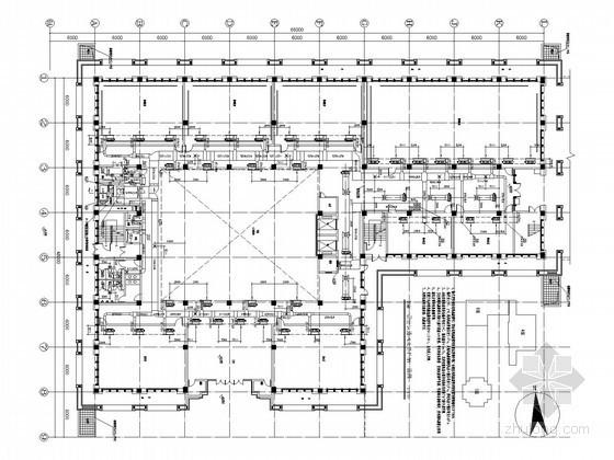 [湖南]多层文化建筑空调通风及防排烟系统设计施工图(人防 大院 机房设计)