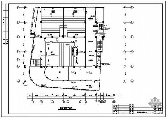 某影厅钢结构建筑结构设计图