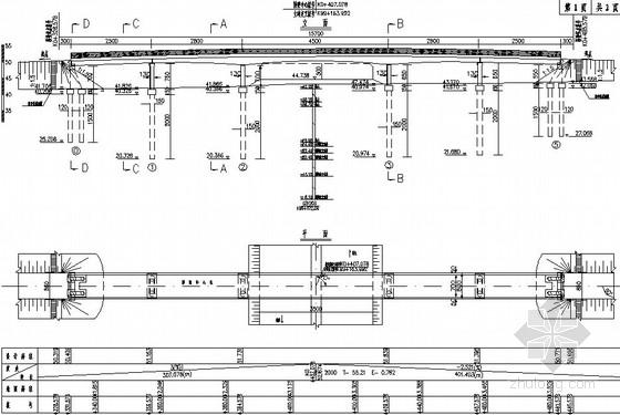 [江苏]高速公路预应力混凝土箱梁天桥设计图(全套)