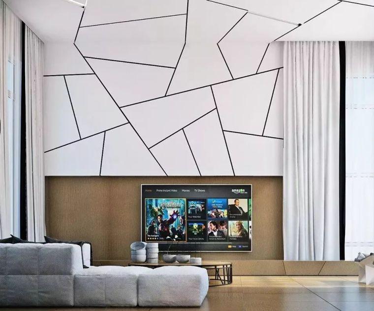2018年电视背景墙流行这样设计~_10