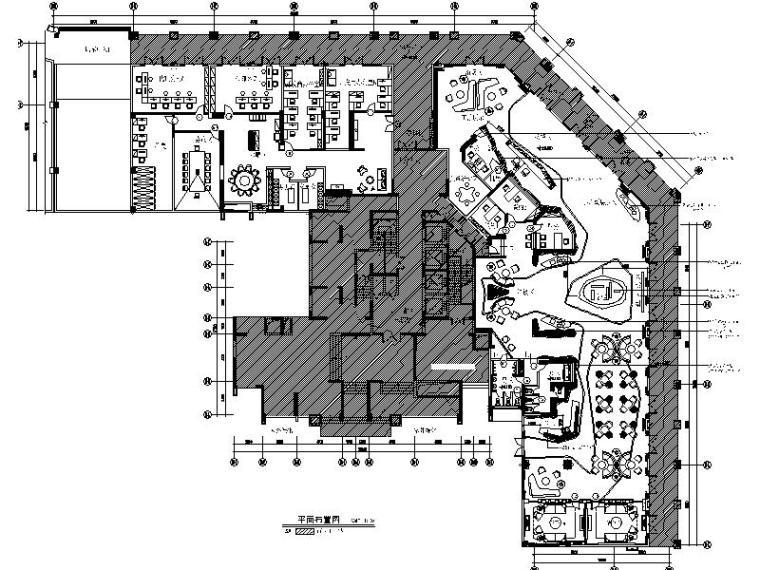 [广州]简约大气平层售楼处室内设计施工图