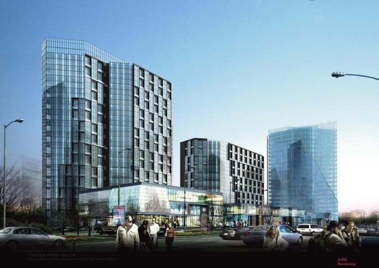 [上海]高層現代風格公寓式辦公樓建筑設計方案文本