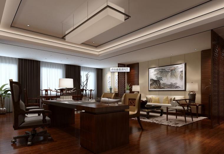 新中式风格客厅装修案例图