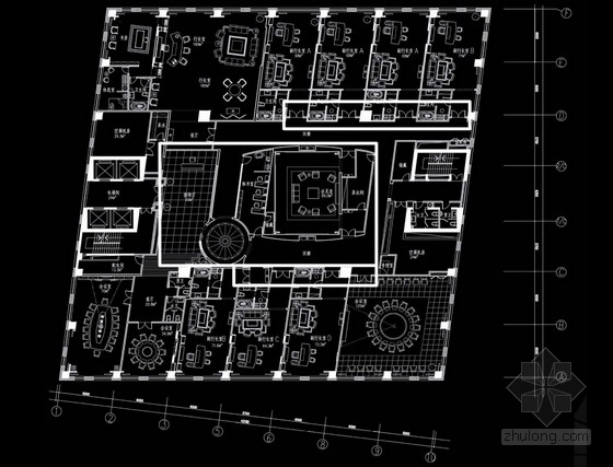 [上海]現代風格金融機構室內設計裝修匯報概念方案
