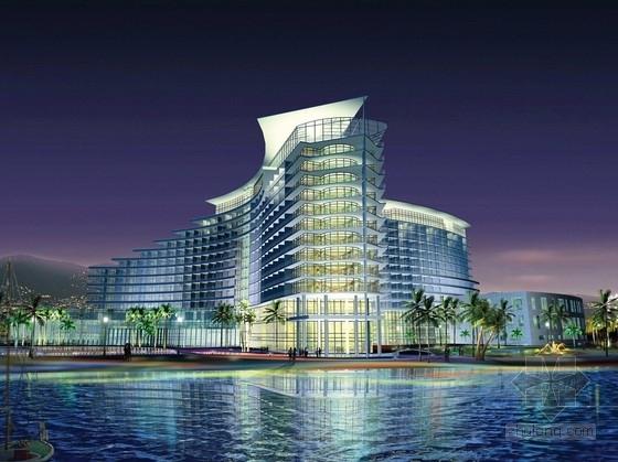 [深圳]滨海区五星级旅游度假商务酒店设计方案文本