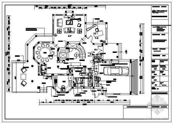 别墅装饰竣工图