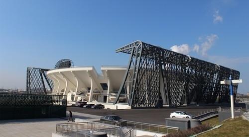 [大连]9628席体育中心网球场建筑结构施工图(全运会场馆)