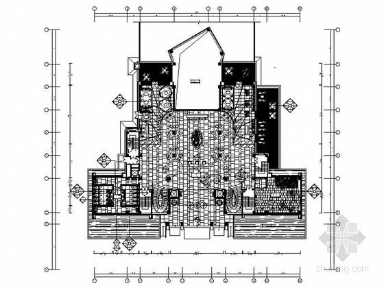 [陕西]庄重大气现代风格售楼处室内装修施工图(含方案效果)