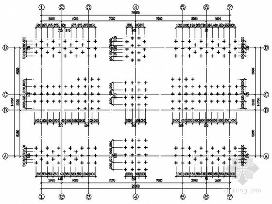 某汽车配件车间基础结构设计及平法施工图