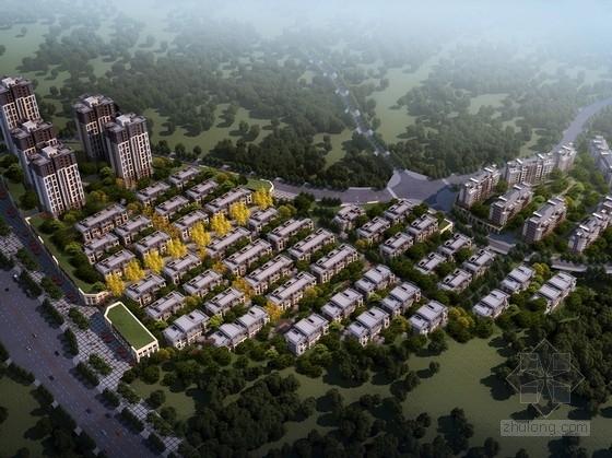 [重庆]高层绿色可持续住宅区规划及叠层别墅设计方案文本(含CAD)