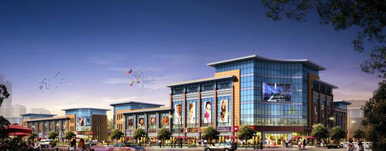 (原创)商场建筑外观设计案例效果图