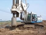 浅析旋挖桩在库区公路高挡墙软弱地基处理中的应用