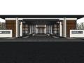 洺悦府居住区中式风格景观规划设计模型