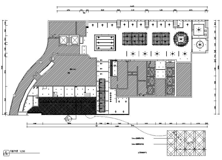 【新疆】新疆特色美食餐厅设计施工图(附效果图)_4