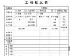 【B类表格】工程概况表