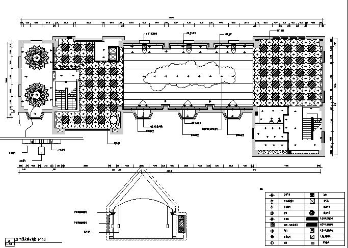 【新疆】欧式民族混搭风格餐饮空间设计施工图(附效果图)_1