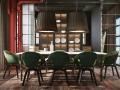 红绿撞色工业风个性餐厅