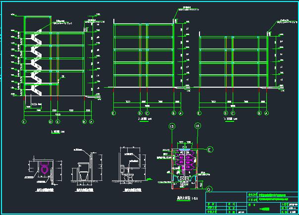 10层扇形办公室钢框架建筑结构施工图_10