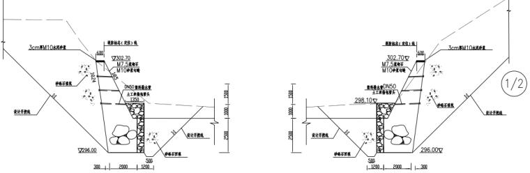 重力式挡土墙拦砂坝工程施工图_4