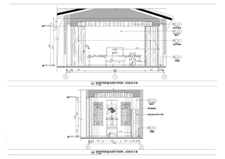 某中式二层别墅室内设计施工图(含效果图,施工图JPG)-二层套房施工图JPG