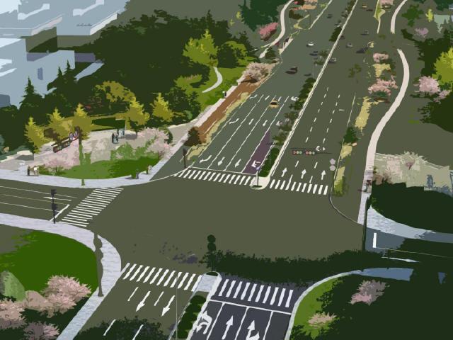 市政道路提升改造工程设计方案投标文本94页附177张图纸(拼宽桥拼宽路基,路桥交通景观)