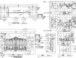 园林景观小品围墙栏杆CAD施工图120张