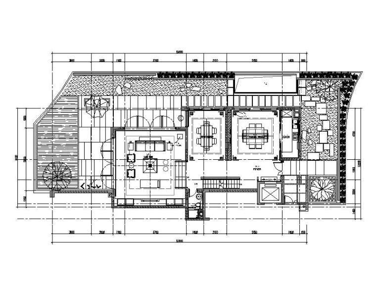 [深圳]新中式风格别墅样板房室内设计施工图(含效果图)