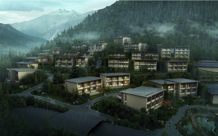 [云南]希尔顿新中式双坡屋顶知名酒店改造建筑设计方案文本