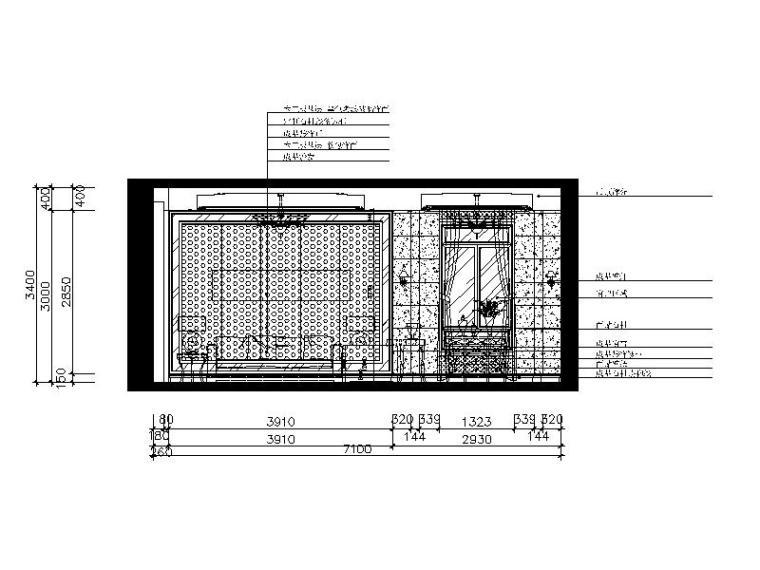 欧式别墅风格v别墅CAD施工图(含效果图)mac版cadps导入平面图图片